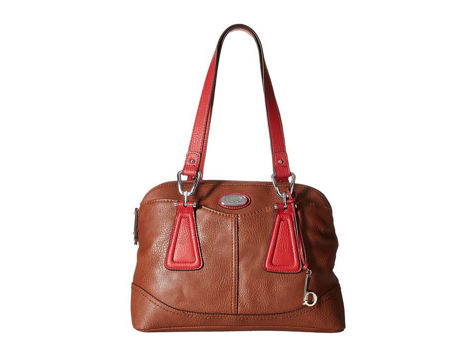 b.o.c. - Englenton Satchel (Walnut/Red) Satchel Handbags