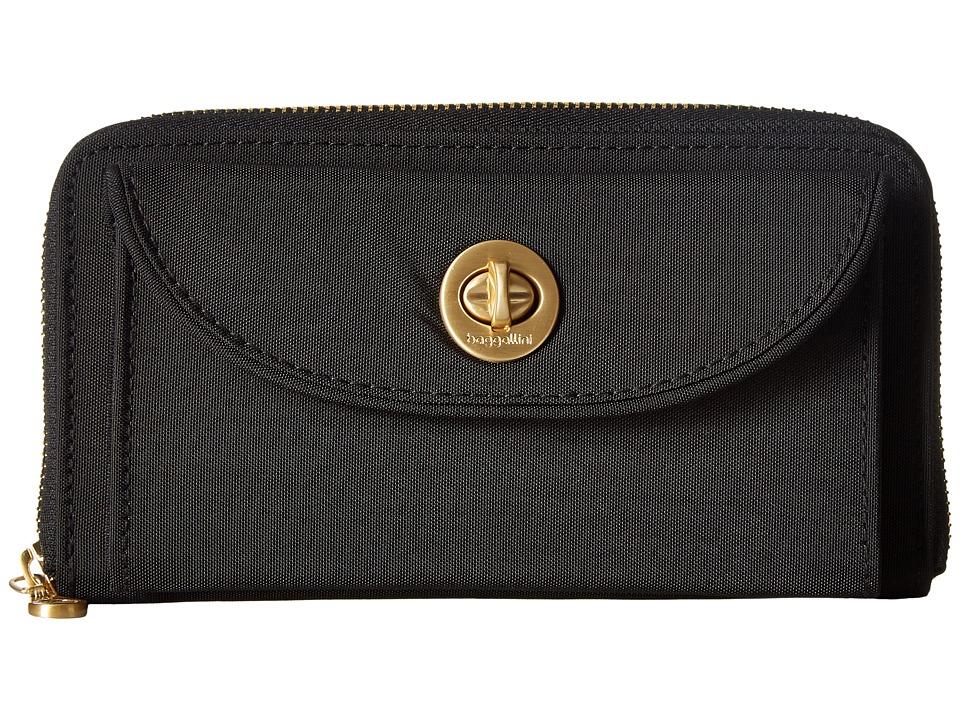 Baggallini Gold Kyoto RFID Wallet (Black) Wallet Handbags