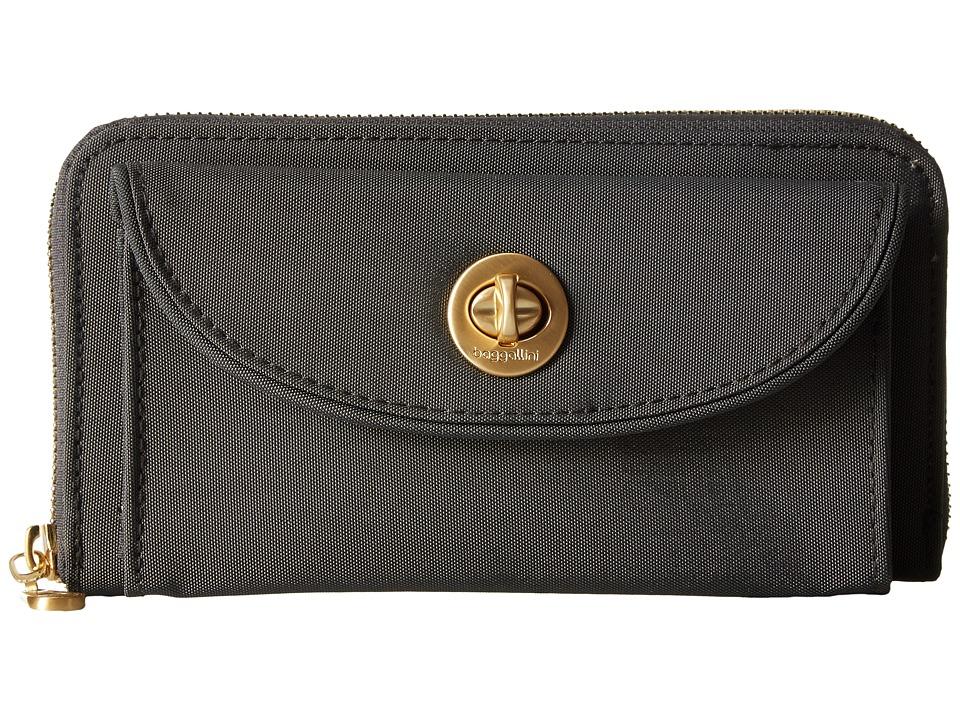 Baggallini - Gold Kyoto RFID Wallet (Charcoal) Wallet Handbags