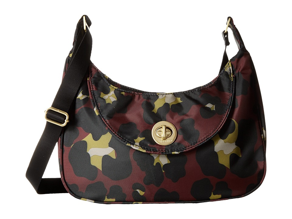 Baggallini - Gold Oslo Small Hobo (Scarlet Cheetah) Hobo Handbags