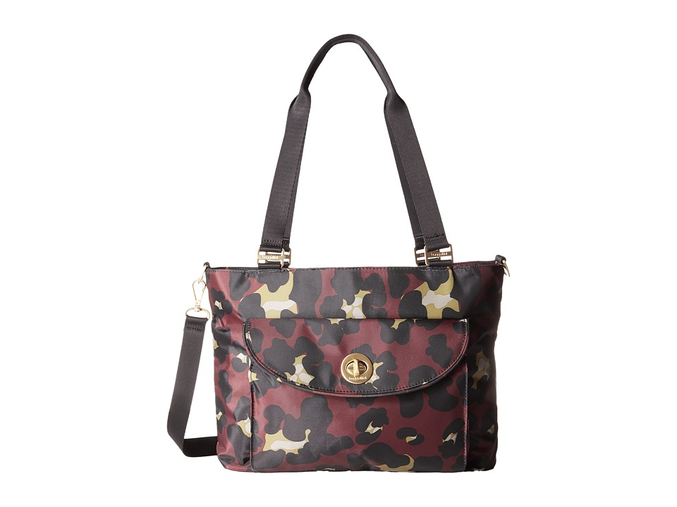 Baggallini - Gold La Paz Tote (Scarlet Cheetah) Tote Handbags