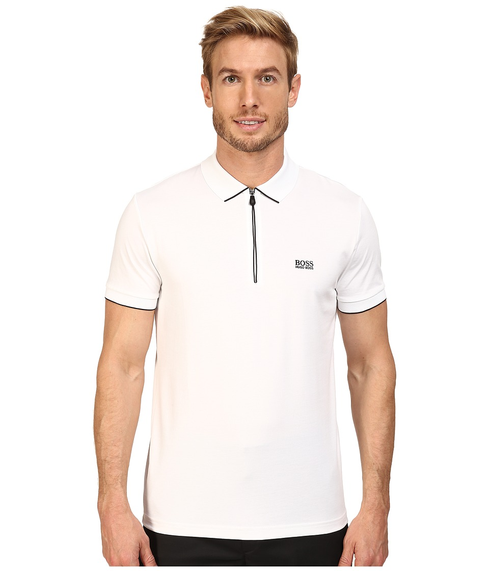 BOSS Green - Philix 10175216 01 (White) Men's Short Sleeve Knit