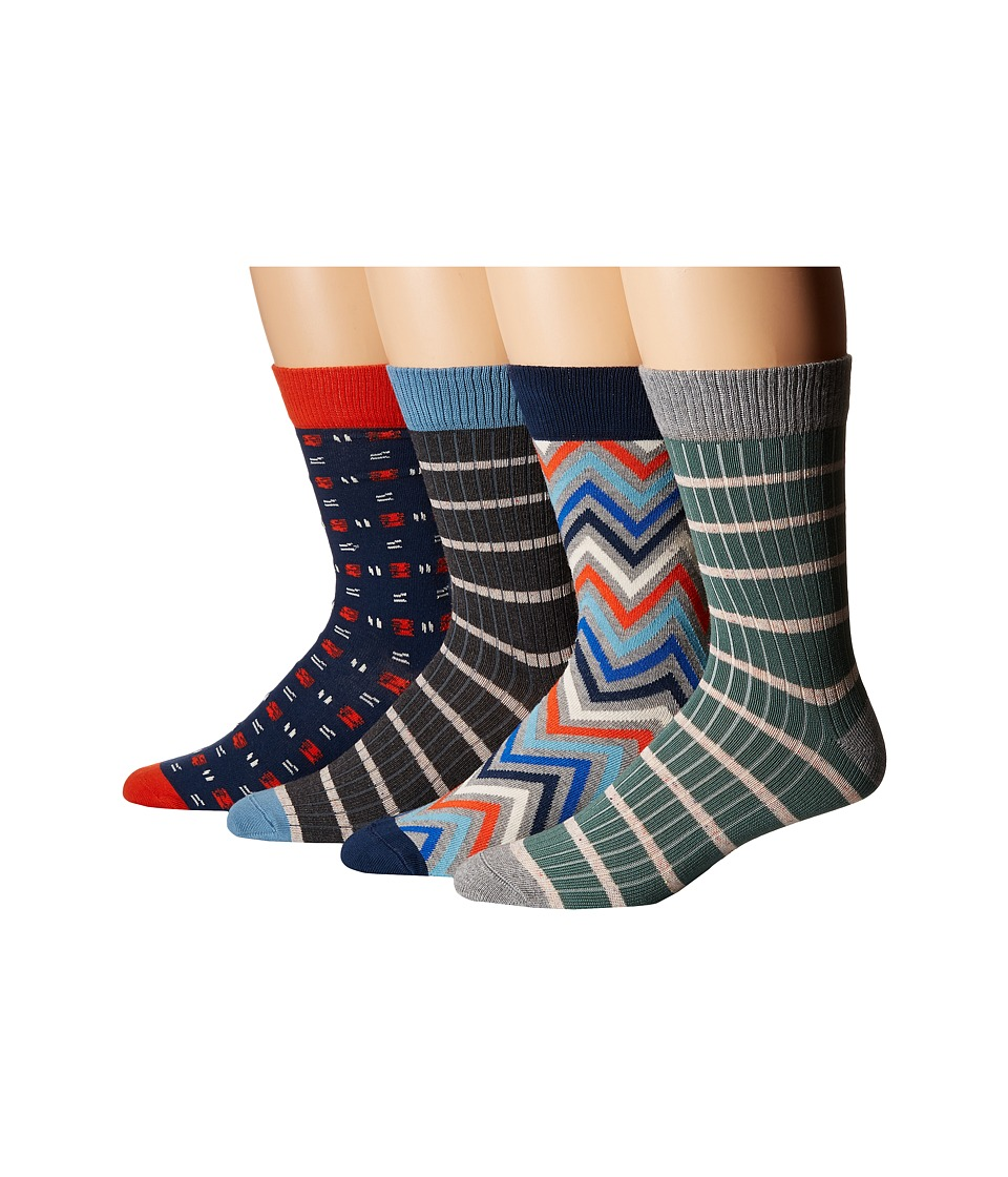 PACT - Seasonal Socks Bundle (Multi) Men's Crew Cut Socks Shoes