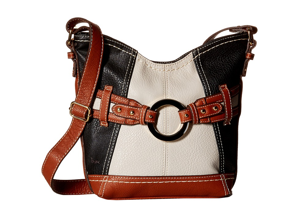 b.o.c. - Doral Large Color Block Crossbody (Black/Grey) Cross Body Handbags