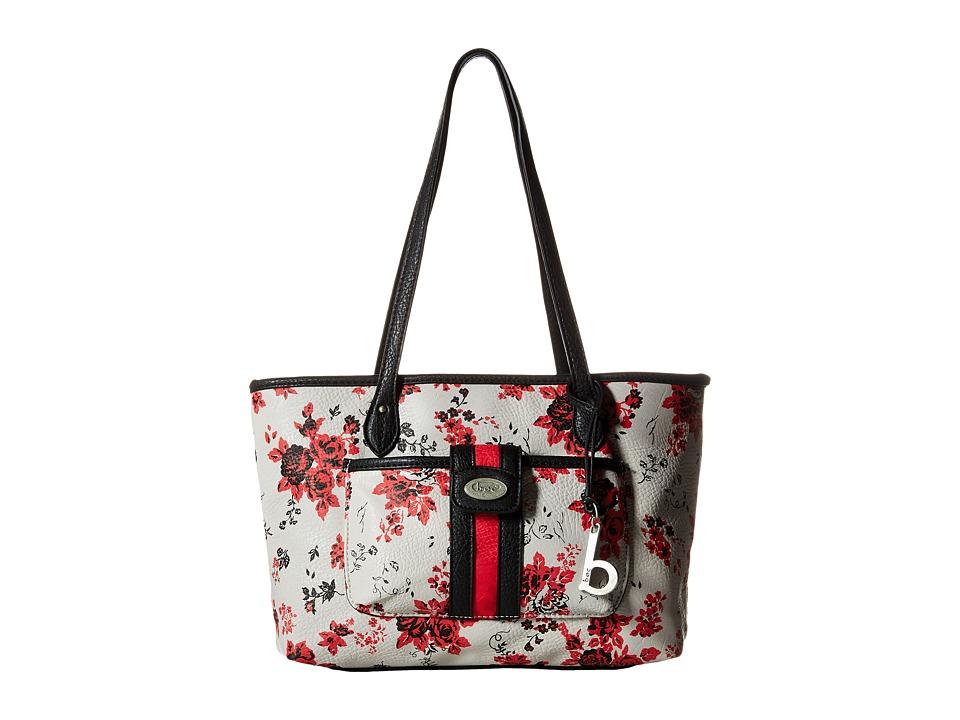 b.o.c. - Shalimar Floral Tote (Red/Black) Tote Handbags