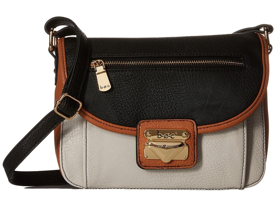 b.o.c. - Hialeah Flap Crossbody (Dove/Black) Cross Body Handbags