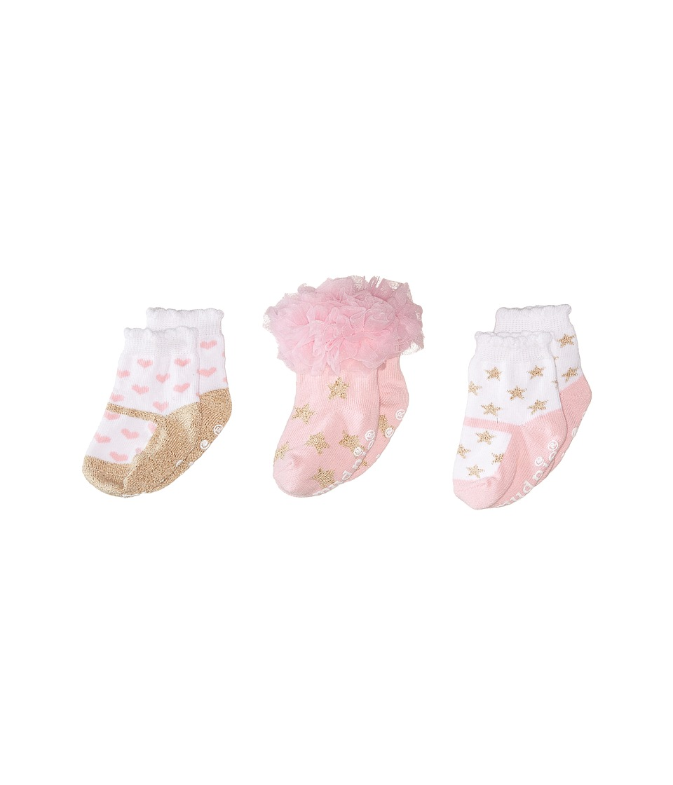 Mud Pie - Glitter Princess Sock Set (Pink) Girls Shoes