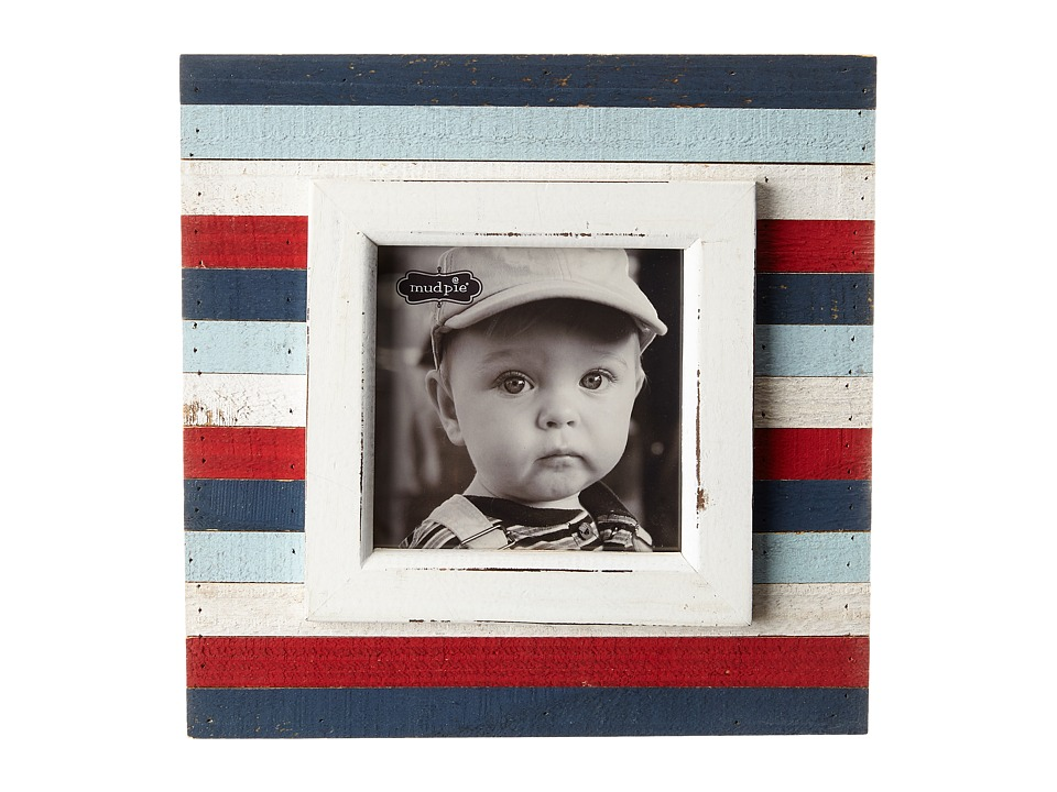 Mud Pie - Multicolor Planked Frame (Red/White/Blue) Accessories Travel