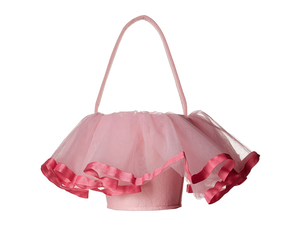 Mud Pie - Tutu Easter Basket (Pink) Accessories Travel