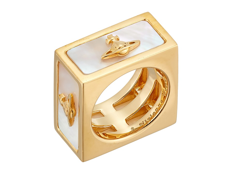 Vivienne Westwood - Tomo Ring (White Mother-of-Pearl) Ring