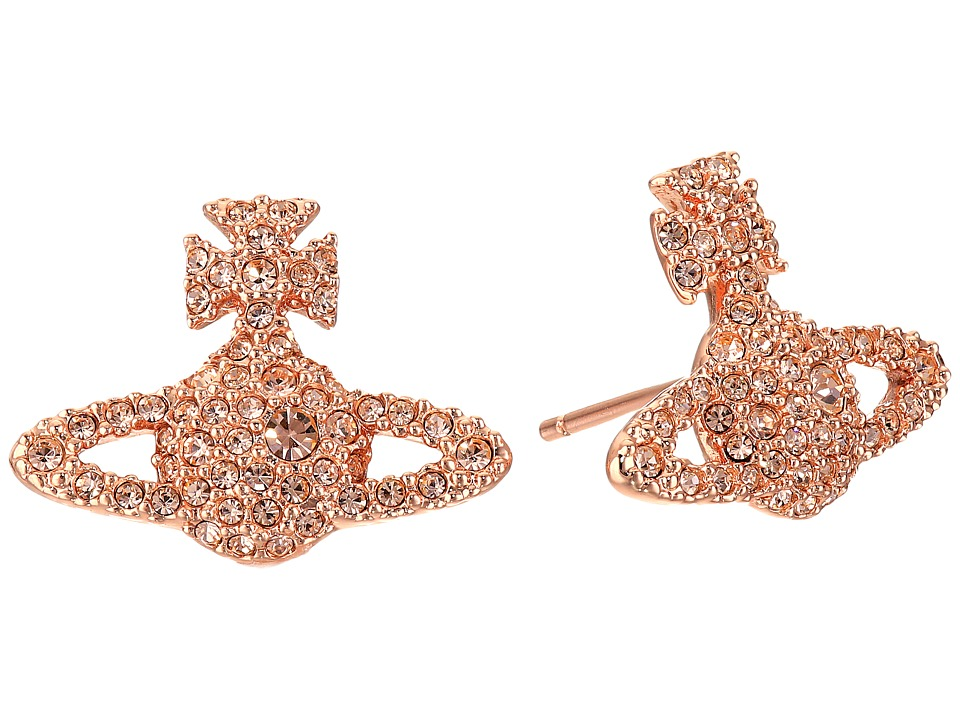 Vivienne Westwood - Grace Stud Earrings (Light Peach) Earring