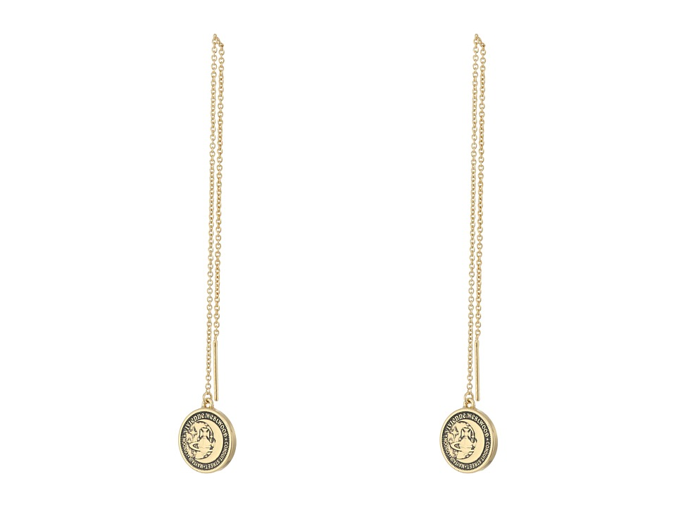 Vivienne Westwood - Titania Small Medal Chain Earrings (Antique Gold/Gold) Earring