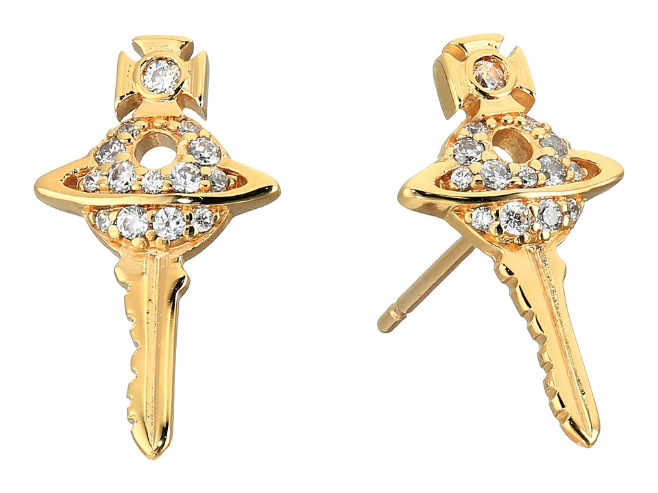 Vivienne Westwood - Darianne Petite Key Earrings (Cubic Zirconia) Earring