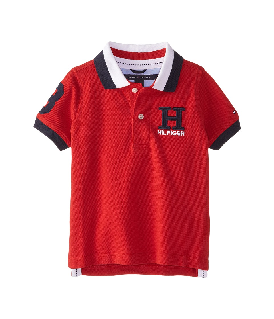 Tommy Hilfiger Kids - Short Sleeve Matt Polo (Toddler/Little Kids) (Regal Red) Boy's Short Sleeve Knit