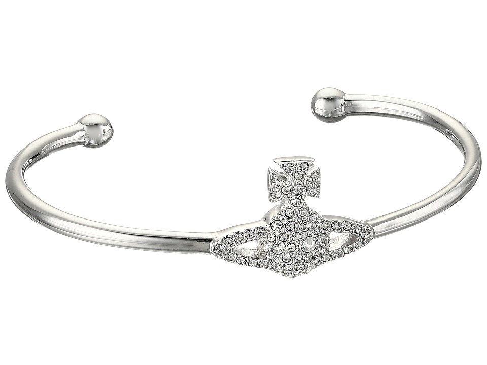 Vivienne Westwood - Grace Open Bangle (Crystal) Bracelet