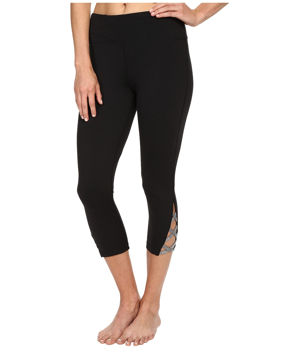 Manduka - Lattice Capris (Black) Women's Capri