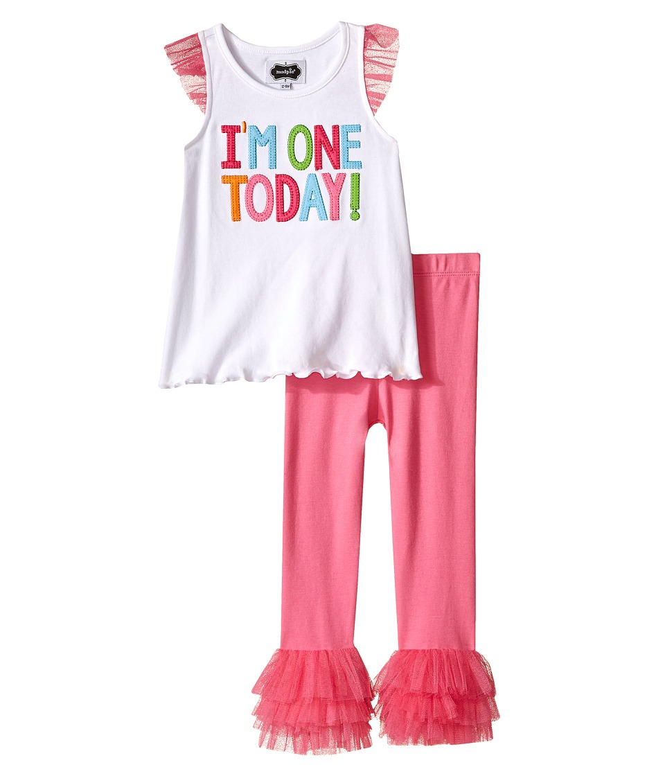 Mud Pie - I Am One Tunic and Leggings Set (Infant) (Pink) Girl's Active Sets
