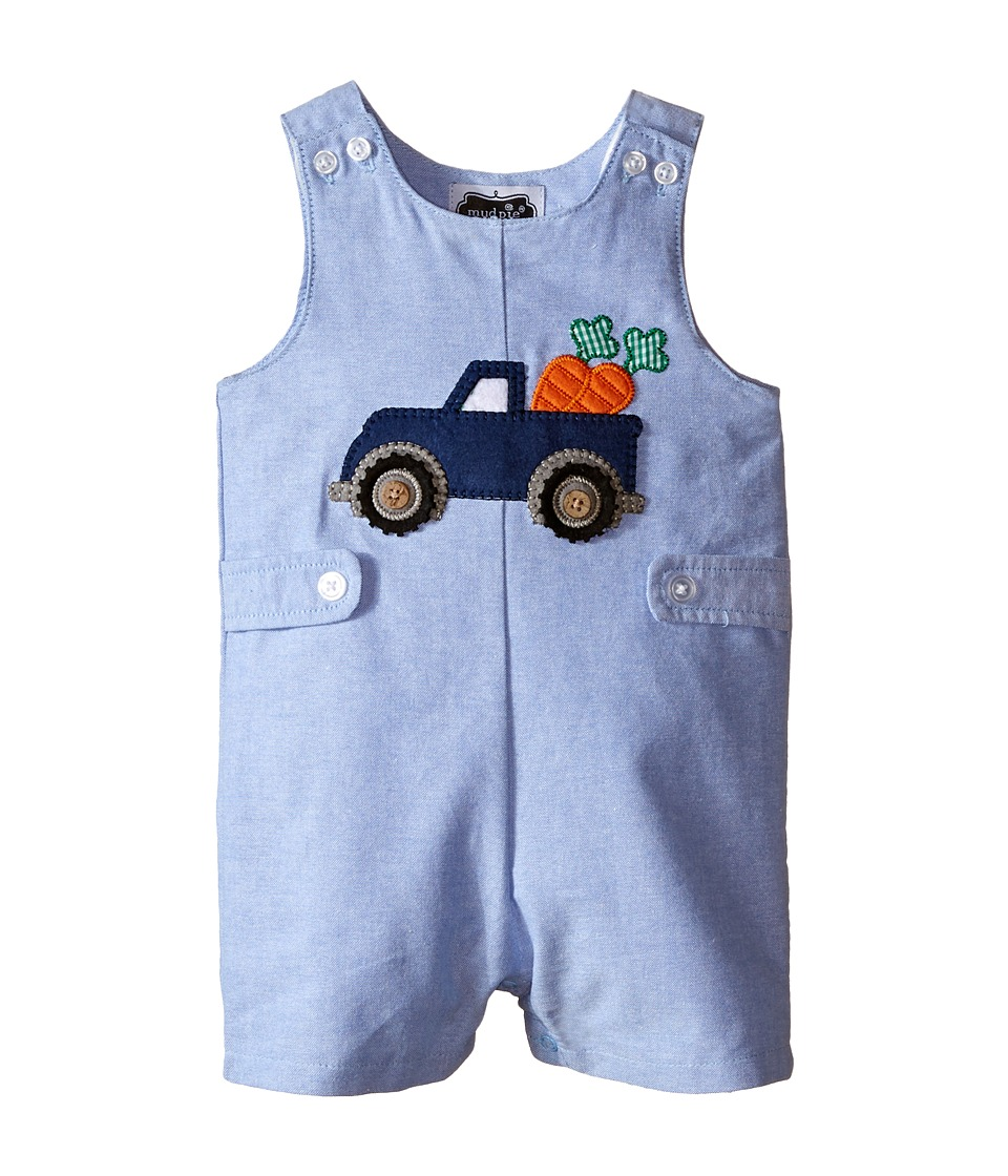 Mud Pie - Easter Truck Shortall (Infant) (Blue) Boy's Jumpsuit & Rompers One Piece