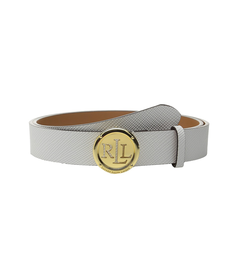 LAUREN Ralph Lauren - Charleston 1 1/4 Saffiano w/ Roll Plaque (Bright White) Women's Belts