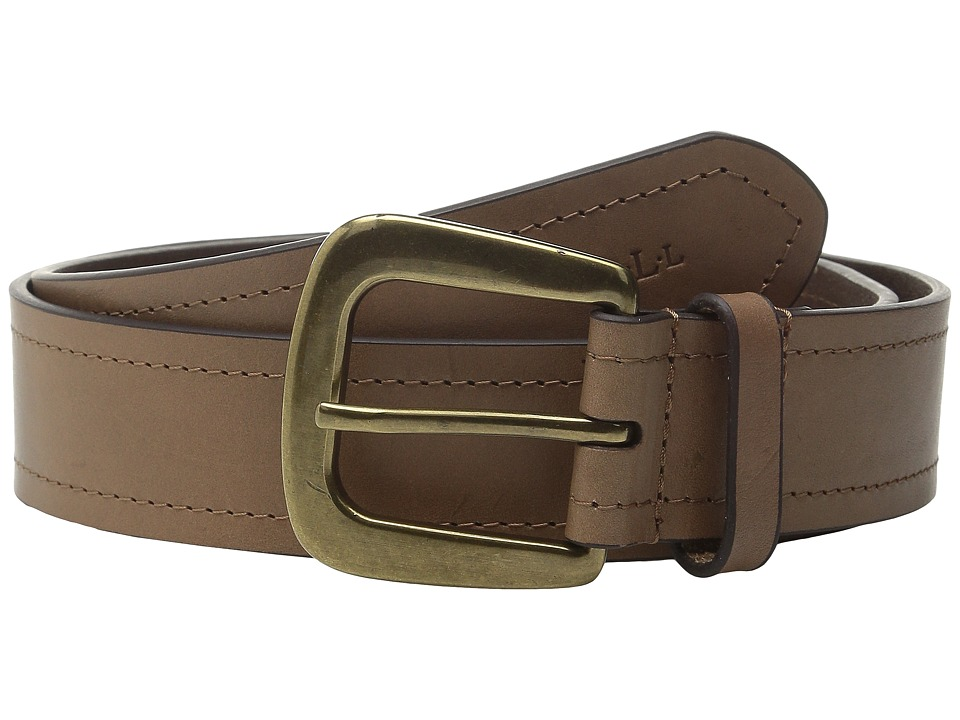 LAUREN Ralph Lauren - Tumbled Leather 1 3/4 Rings Belt (Desert) Women's Belts