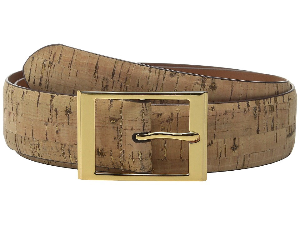 LAUREN Ralph Lauren - Cork w/ Foil 1 3/8 Center Belt (Natural) Women's Belts