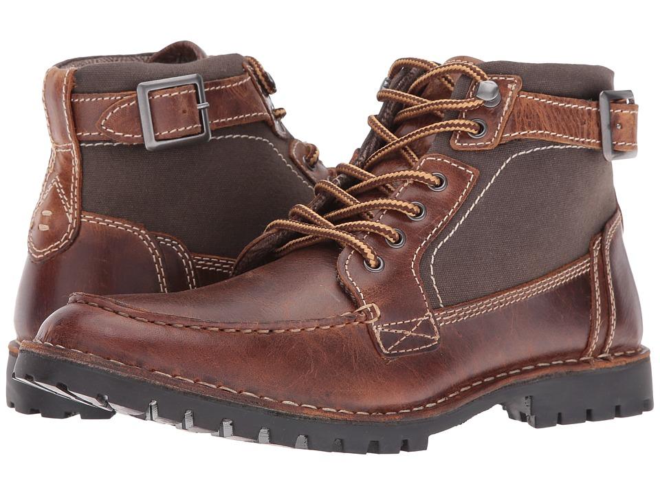 Steve Madden - Nummero (Cognac) Men's Lace-up Boots