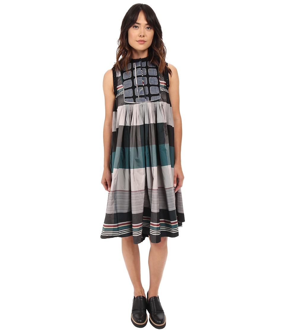 LOVE Binetti - Scorpion Dress (Plaid Green Combo) Women's Dress