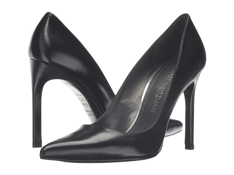 Stuart Weitzman - Tara (Black Kid) Women's Shoes
