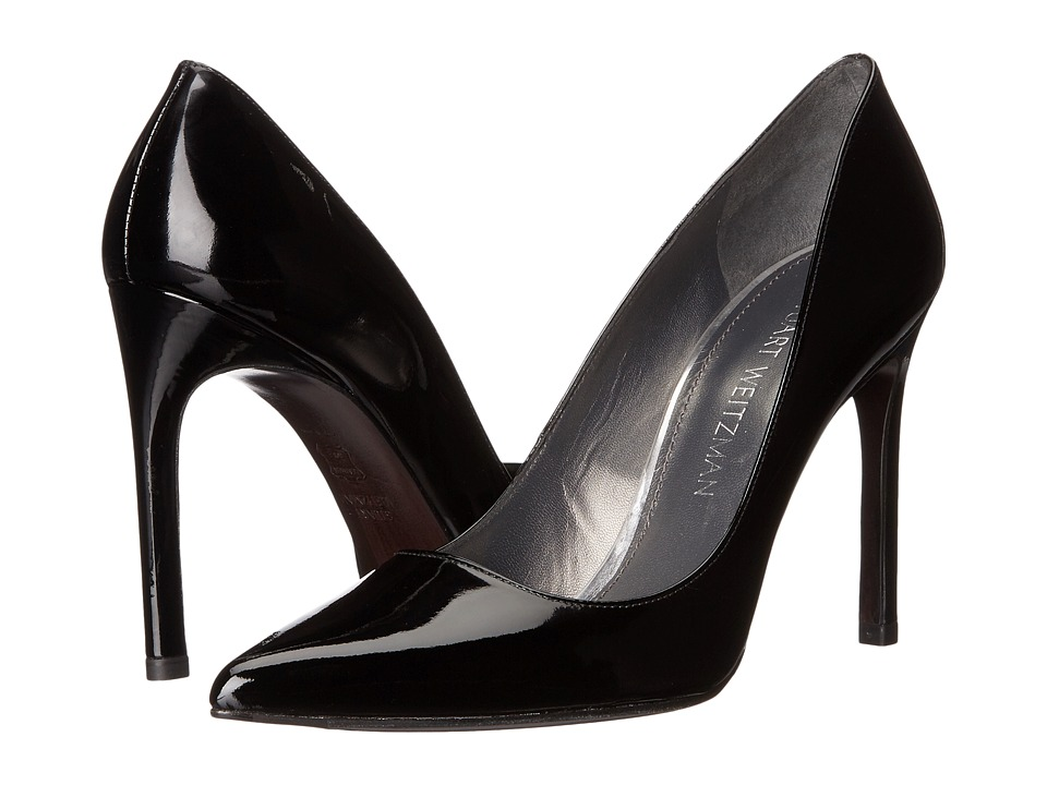 Stuart Weitzman - Tara (Black Patent) Women's Shoes