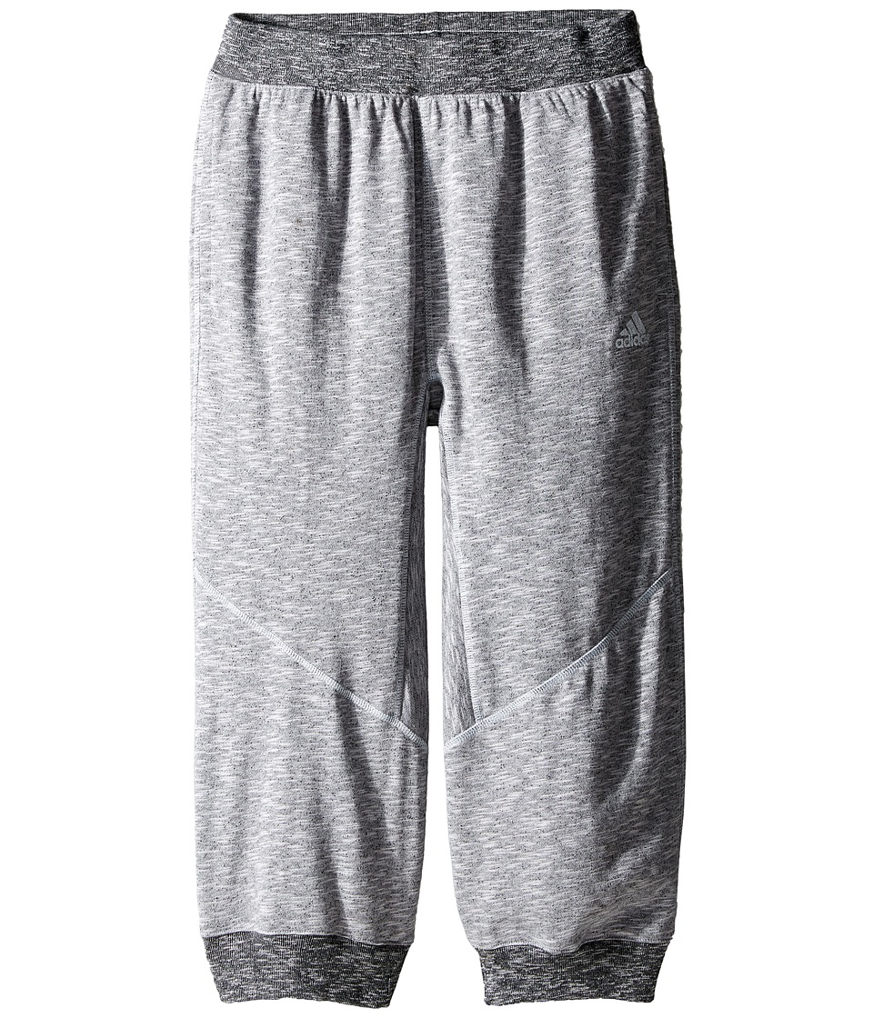 adidas Kids - Cross Up 3/4 Pants (Little Kids/Big Kids) (Light Grey Heather Solid Grey) Boy's Casual Pants