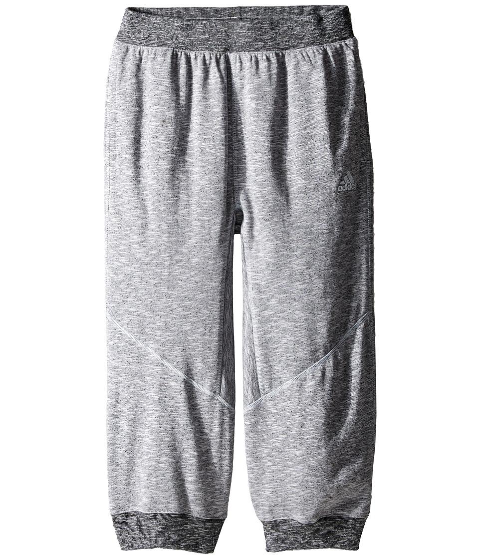 adidas Kids - Cross Up 3/4 Pants (Little Kids/Big Kids) (Light Grey Heather Solid Grey) Boy's Casual Pants