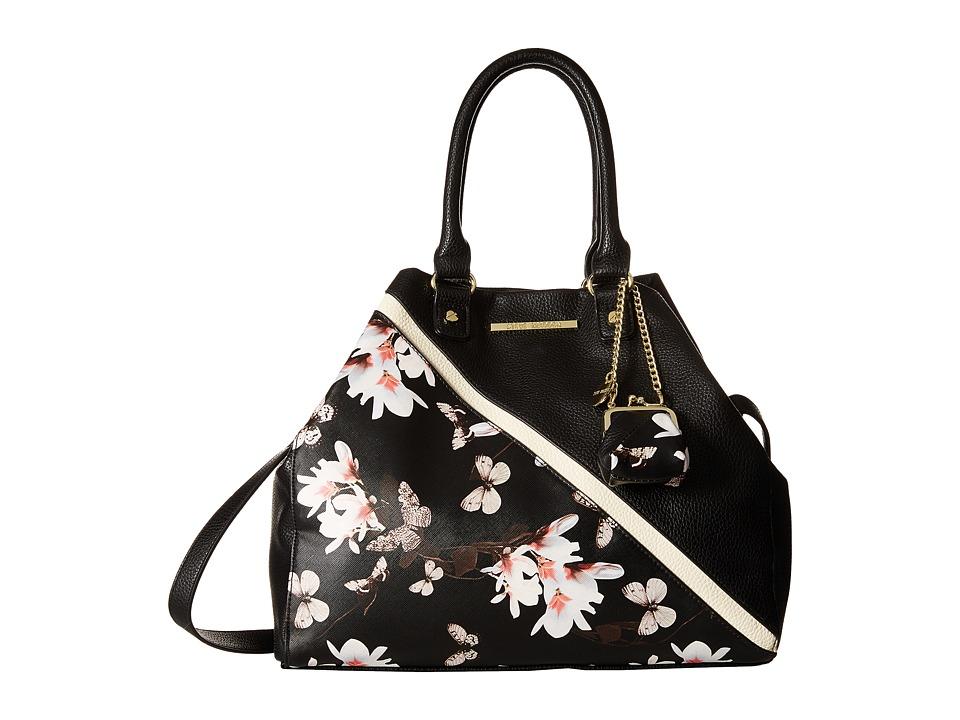 Steve Madden - Blovely (Black Butterfly/Black/Bone) Satchel Handbags