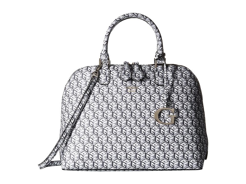 GUESS - G Cube Dome Satchel (Black) Satchel Handbags