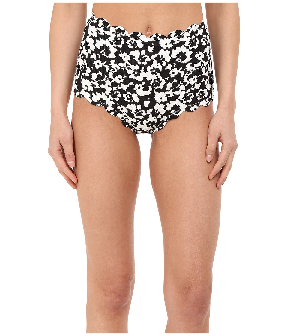 Marysia - Santa Monica Bottoms (Black Hibiscus Print) Women's Swimwear