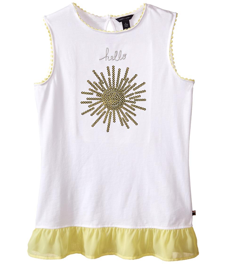 Tommy Hilfiger Kids - Hello Sunshine Knit Top (Big Kids) (White) Girl's Sleeveless