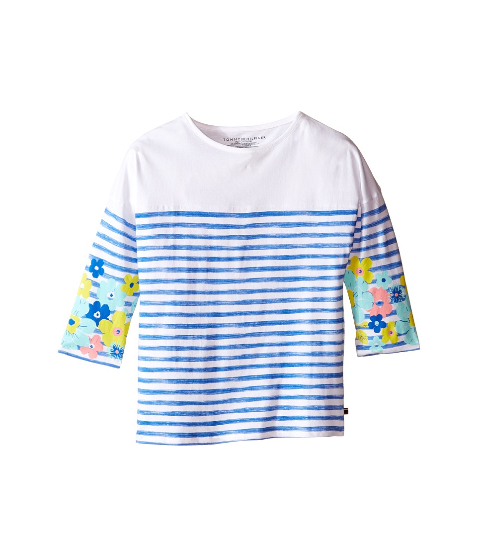 Tommy Hilfiger Kids - Watercolor Stripe Knit Top (Big Kids) (Placid Blue) Girl's T Shirt