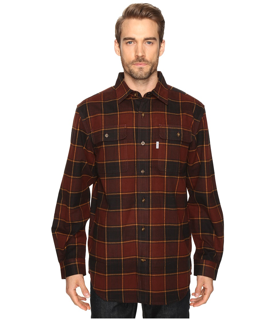 Carhartt - Hubbard Plaid Shirt (Dark Cedar) Men's Long Sleeve Button Up
