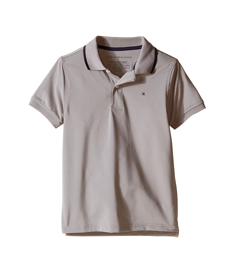 Tommy Hilfiger Kids - Ivy Synthetic Stretch Jersey Polo (Toddler/Little Kids) (Frost Grey) Boy's Clothing