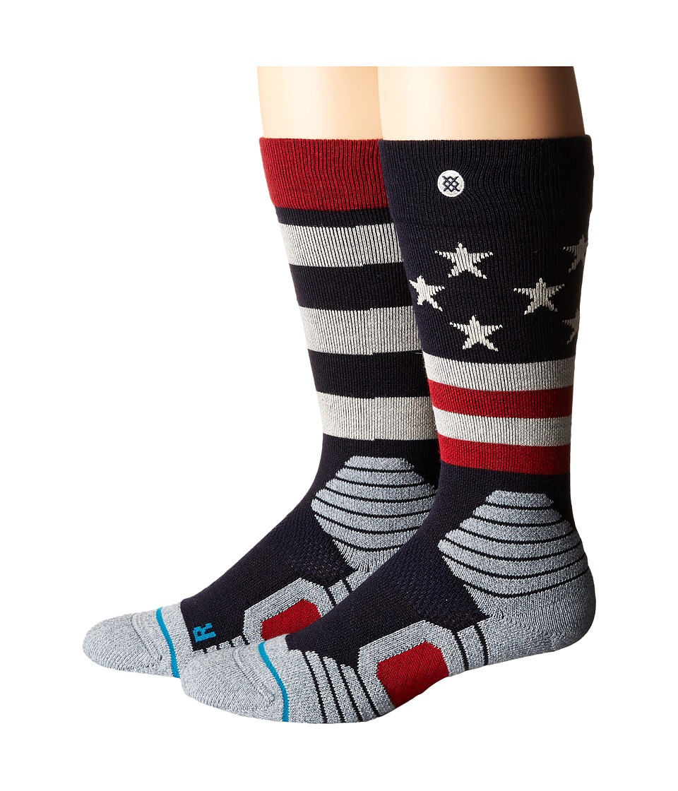 Stance - Clawhammer (nvy-navy) Men's Crew Cut Socks Shoes