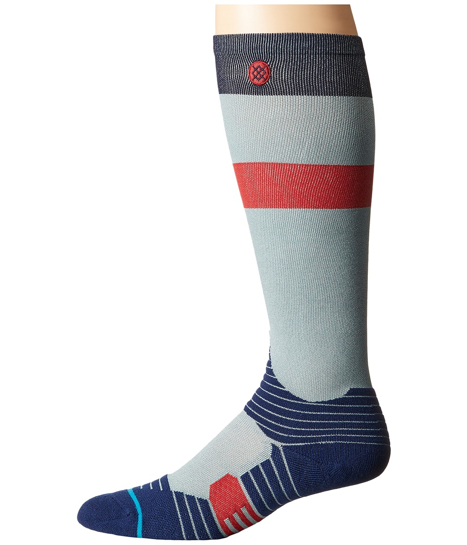 Stance - Silver Glance (Grey) Men's Crew Cut Socks Shoes