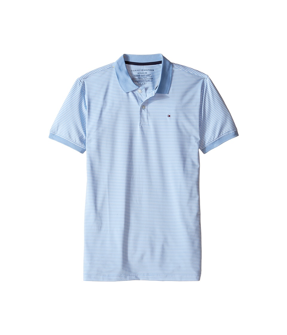 Tommy Hilfiger Kids - Feeder Stretch Synthetic Stripe Polo (Big Kids) (Alastan Blue) Boy's Clothing
