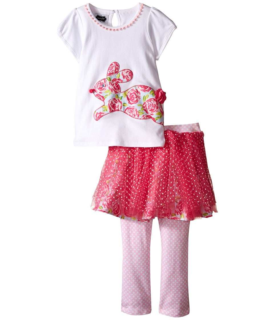 Mud Pie - Bunny Tutu Skirt Set (Toddler) (Pink) Girl's Skirt