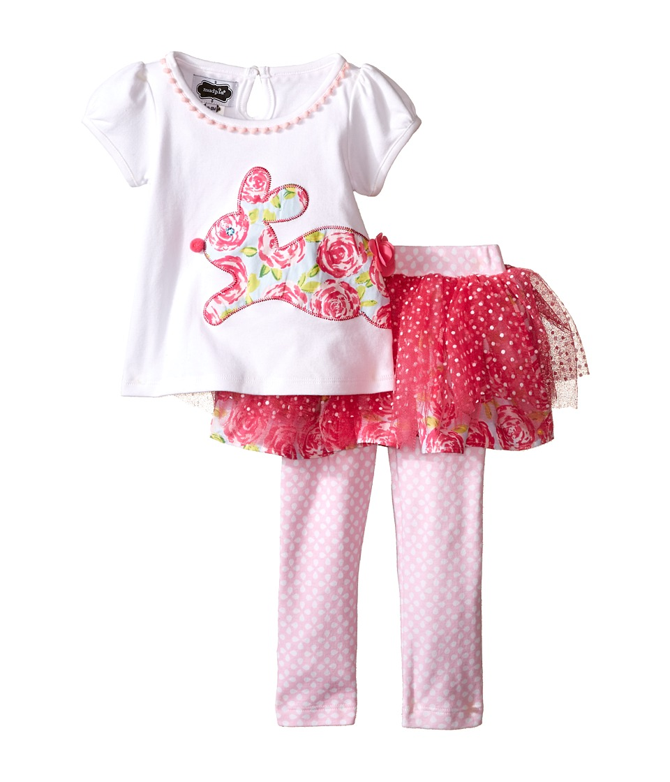 Mud Pie - Bunny Tutu Skirt Set (Infant) (Pink) Girl's Skirt