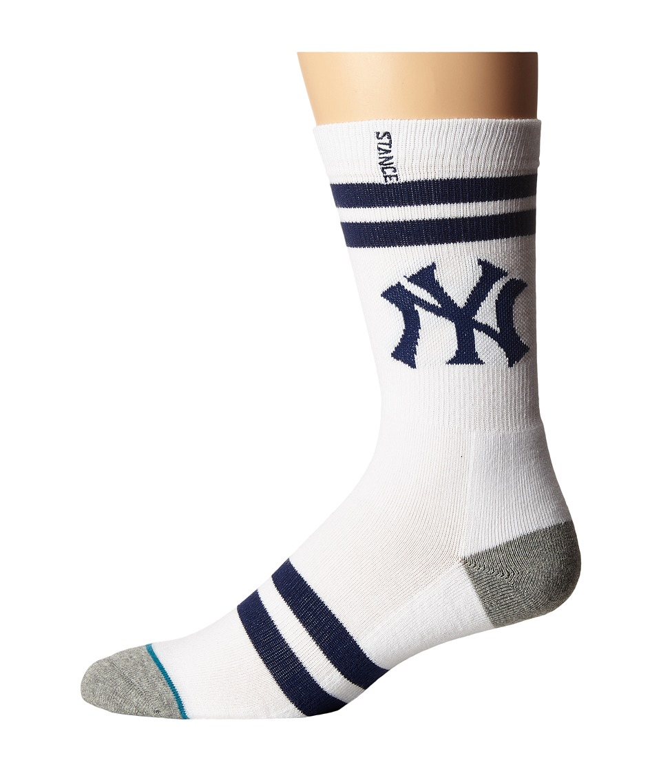 Stance - Bronx Bombers (White) Men's Crew Cut Socks Shoes