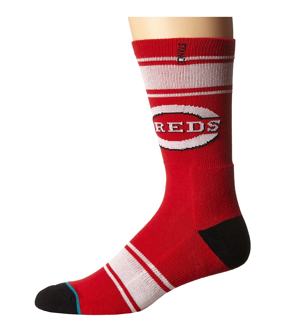 Stance - Red Machine (Red) Men's Crew Cut Socks Shoes
