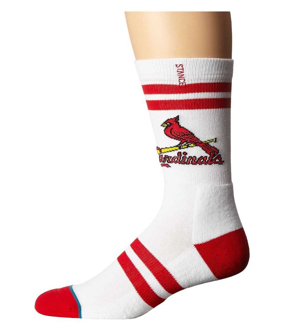 Stance - Redbirds (White) Men's Crew Cut Socks Shoes