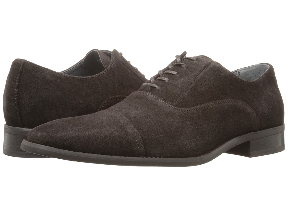 Calvin Klein - Radley (Dark Brown Oily Suede) Men's Lace up casual Shoes