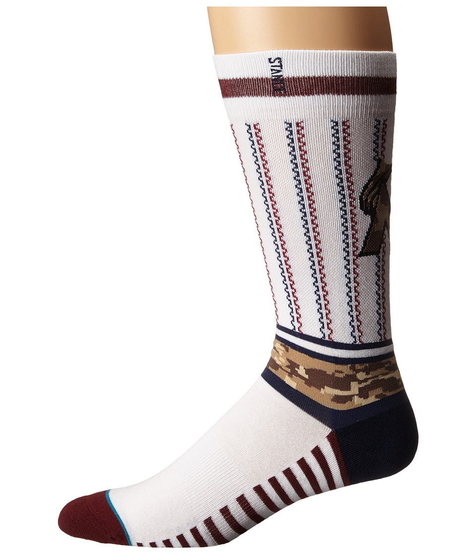 Stance - Sentry Marlins (White) Men's Crew Cut Socks Shoes