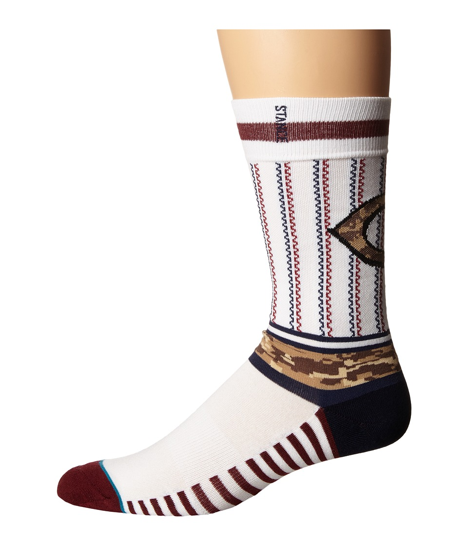 Stance - Sentry Reds (White) Men's Crew Cut Socks Shoes