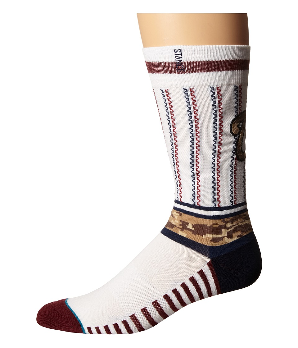 Stance - Sentry Nats (White) Men's Crew Cut Socks Shoes
